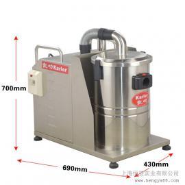 380V大型工业吸尘器45L不锈钢桶机械厂五金加工厂吸颗粒焊渣木屑