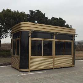 扬州钢结构岗亭厂家-小区门卫值班休息室-停车场收费岗亭