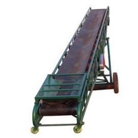 不锈钢防腐小型带式给料机 液压升降箱装蔬菜装车输送机