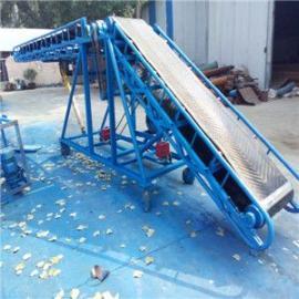 包胶滚筒小型滚轮输送机 皮带倾斜输送机