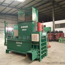 供应饲料储存用卧式打包机生产厂家/圣泰液压打包机