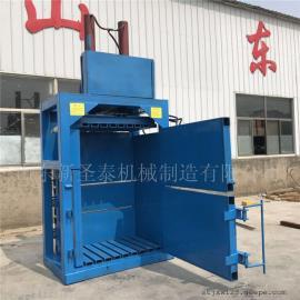 多种原料适用立式打包机生产厂家 圣泰秸秆打包型号