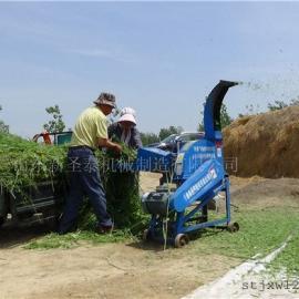 多种秸秆适用铡草机生产厂家 圣泰草草类铡草机报价