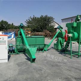 供应养殖场大型饲料机组多少钱 圣泰多功能颗粒机组报价