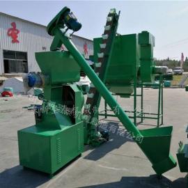 供应养殖户饲料机组生产厂家 圣泰大型饲料机组价格