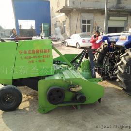 多种秸秆可用回收打捆机生产厂家 圣泰自动粉碎打捆机型号