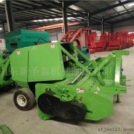 秸秆粉碎回收打捆一体机生产厂家/圣泰玉米秸秆粉碎打捆机型号