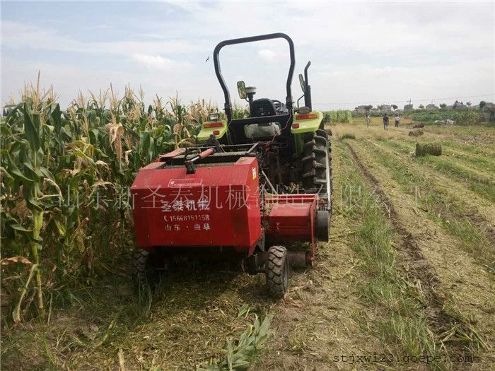 玉米秸秆回收打捆机生产厂家/圣泰粉碎打捆一体机