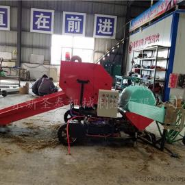 青饲料打捆包膜机生产厂家 圣泰全自动打包机报价