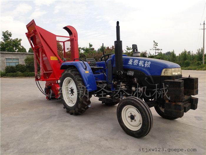 供应新型农场玉米秸秆回收机生产厂家/圣泰粉碎回收机