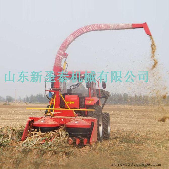 供应饲料厂用全株收割机生产厂家/圣泰青玉米秸秆收割机