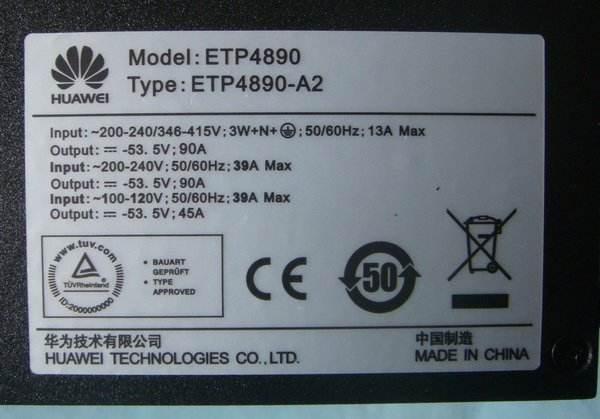 ETP4890-A2华为HUAWEI嵌入式电源参数几个