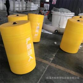 抚仙湖杂草拦截塑料浮体 PE拦汛网塑料浮体价格