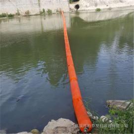 热销水面垃圾拦截塑料浮体 滚塑成型河道拦渣浮体报价