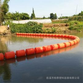 河道挂网清渣塑料浮排 围栏挡渣浮漂批发厂家