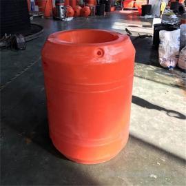 挖泥船配套疏浚清淤夹管塑料浮体厂家