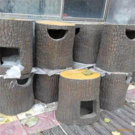 水泥果皮箱仿木漆园林仿木喷漆