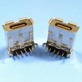 3.0 TYPE 9P USB母座 A母外形 弯脚卷边 90度 两脚插板带IC功能