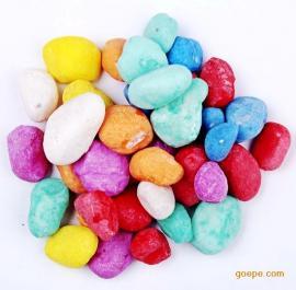 直销染色七彩石不掉色小彩石 胶粘石透水地坪 天然水洗石