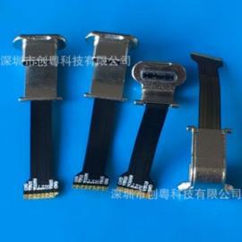 3.1无线充 TYPE-C公头+FFC/FPC软排线 乐视背夹插头 插头+线插头