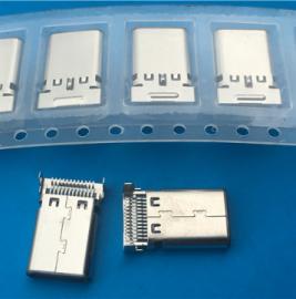 TYPE 3.1 USB 沉板双贴公头 双12P贴片 smt贴片式公头