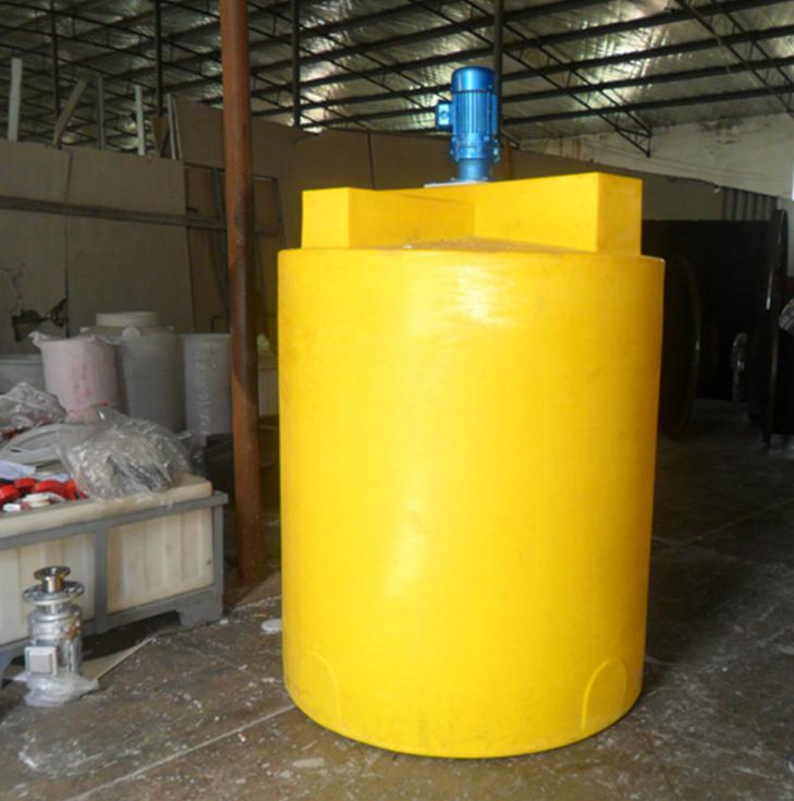 2000L搅拌桶塑料带电机搅拌机加药箱桶洗洁精搅拌罐耐酸碱防腐