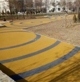 海绵城市彩色透水地坪报价 彩色透水混凝土增强剂做法厂家价格