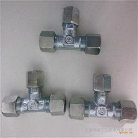 雷斯特利TN100三通接头液压卡套式接头碳钢不锈钢接头管路连接件