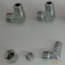 TN94终端角通接头锥螺纹系列卡套式接头液压管路连接件