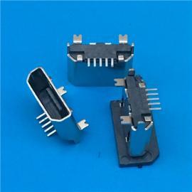 B型立式 MICRO USB 5P 180度SMT母座 ����~叉�_