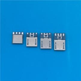 MICRO 9P短体焊线公头 安卓连接器前五后四不短路7.6 9.3 10.5