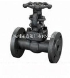 国标锻造体法兰截止阀 小口径锻钢截止阀