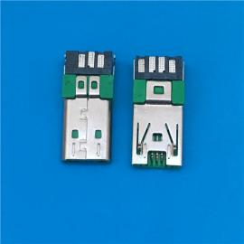 快充大�流A公 Micro 7P 焊�式公�^ OPPO手�C�W充USB 前三后四