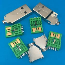 OPPO�W充A公 5A�G色快充USB公�^ 5P��IC大�流+MICRO 7P公�^焊�
