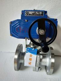 CY精小型电动球阀Q941F-10C电动法兰球阀