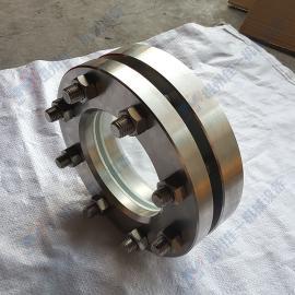加工不锈钢法兰对夹视镜 DN125-PN16法兰视镜 平焊法兰视镜