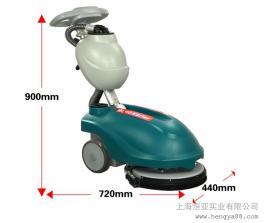 凯叻KL350折叠式全自动工厂洗地车商用刷地机电动手推式扫地机
