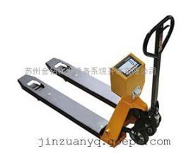 货物出入库称量专用移动叉车秤/手动搬运车秤