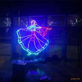 少数名族广场灯光小品 LED过街灯 2019年春节亮化