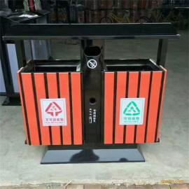 市政公园分类塑木钢木垃圾桶