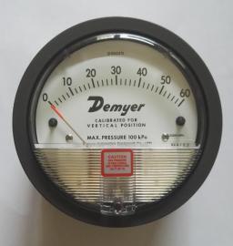 D2000-60Pa指针微压差表Demyer差压表