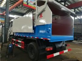 污泥运输车-12方自卸式污泥清运车价格(密封式生活垃圾收集车)