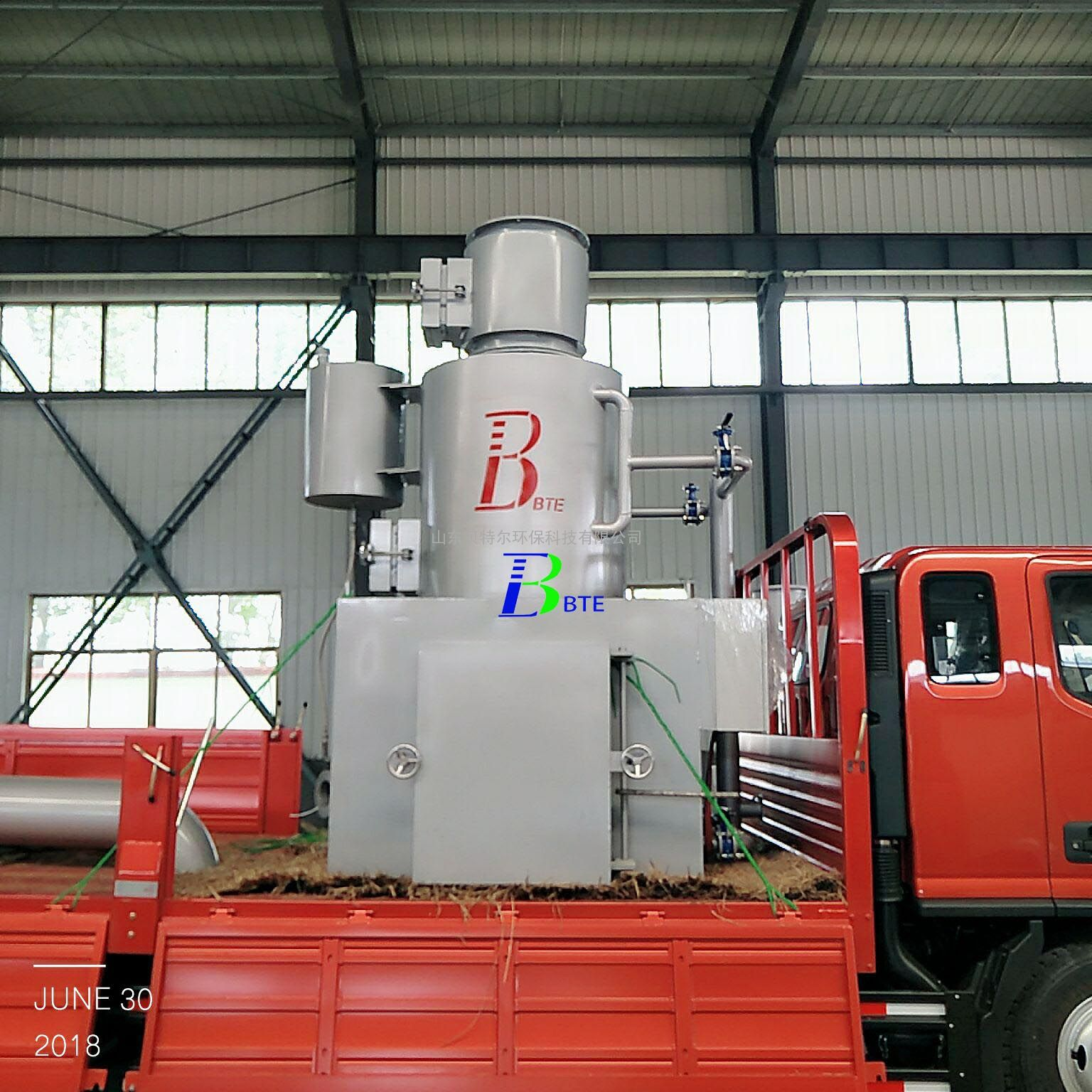 小型工业废弃物垃圾焚烧炉 贝特尔环保 烟气达标排放