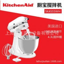 美���P膳怡KitchenAid 5K45SSWH 抬�^式多功能��拌�C (白色)