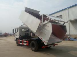 污泥专用车-10立方12立方污泥运输车-全密封12吨污泥自卸运输车
