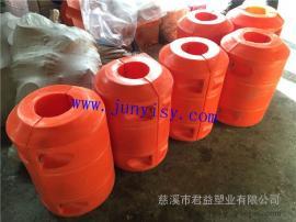 河道治理拦污浮筒 pe材质水域隔离塑料拦污排