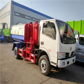 东风多利卡8方自装卸式垃圾车 8方挂桶垃圾车厂家直销