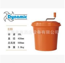 法国Dynamic动力蔬菜沙拉甩干桶色拉桶沥水桶脱水器20L商用 E20