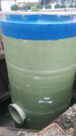 公主岭污水提升泵站厂家 玻璃钢机械缠绕型地埋式一体化预制泵站