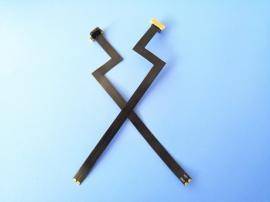 安卓无线充背夹公头 MICRO 2P正向塑胶充电头 闪电型 右拐头